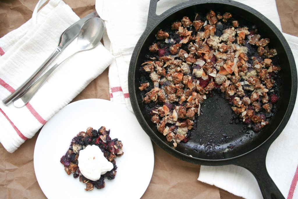 Gracitude Berry Skillet Crumble Cookie Dough