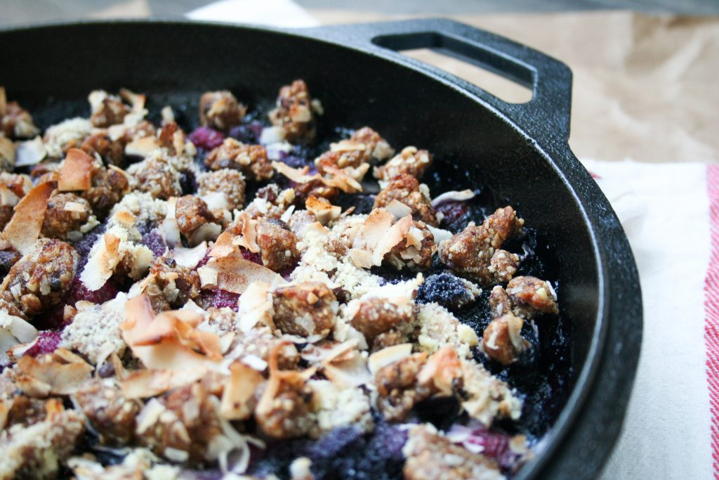 Gracitude Berry Skillet Crumble w: Cookie Dough