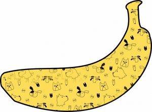 Banana with dogs lol